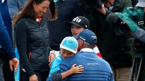 British Open: Matt Kuchar's runner-up finish is made more emotional by a surprise visit from his family