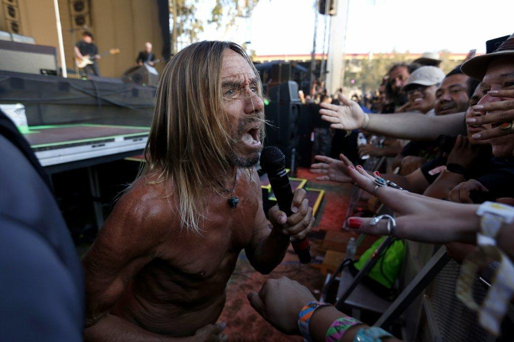 Iggy got up close and personal with fans at FYF. (Gary Coronado)