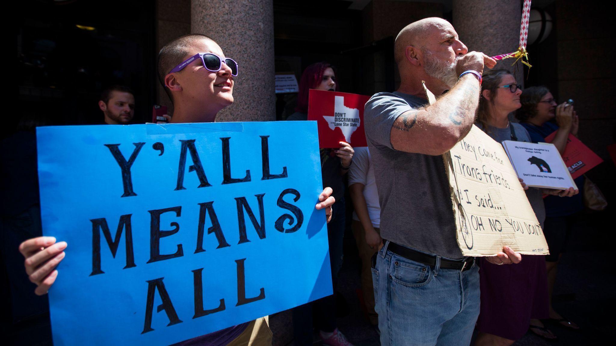 Texas 39 bathroom bill debate shows a widening gap between - Which states have bathroom bills ...