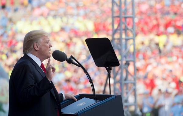 Trump slams GOP senators, 'dishonest' press, Obama and Clinton in a rambling speech to national Boy Scouts Jamboree