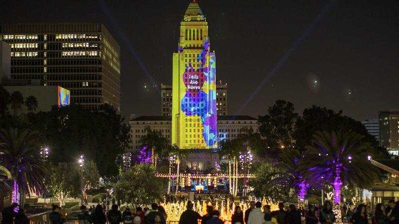 Grand Park, Dec. 31, 2015. (Gina Ferazzi / Los Angeles Times)