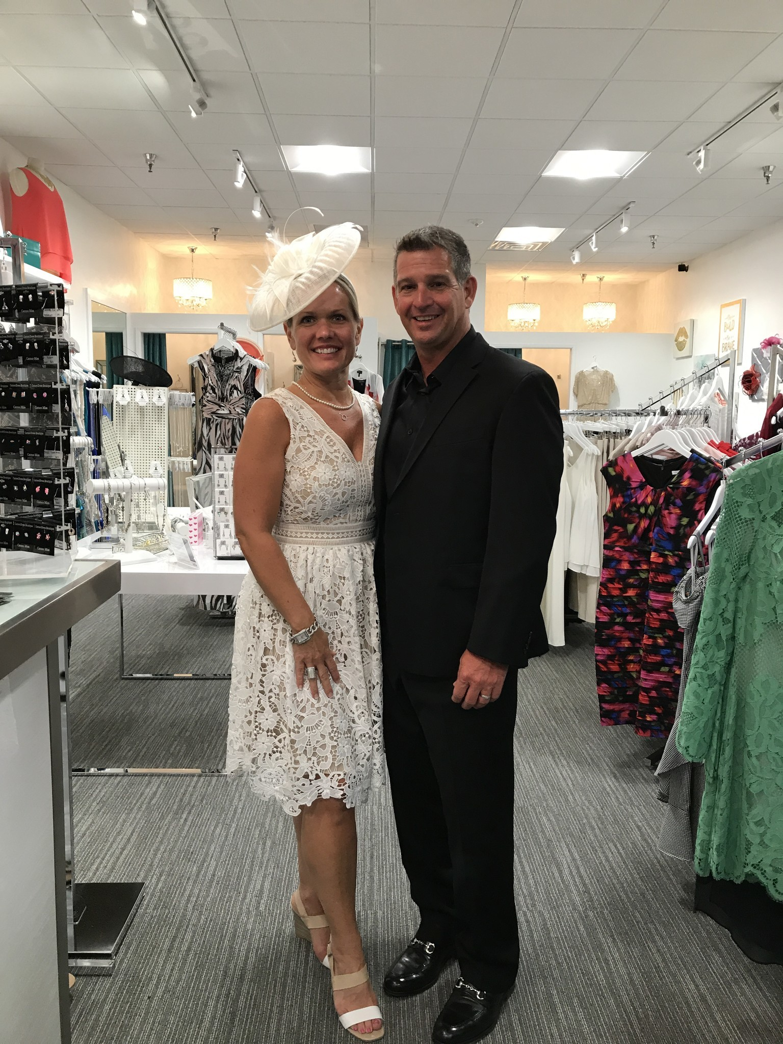 Cameo Dress Boutique owner Rachel Justice-Crowder and her husband Andy.
