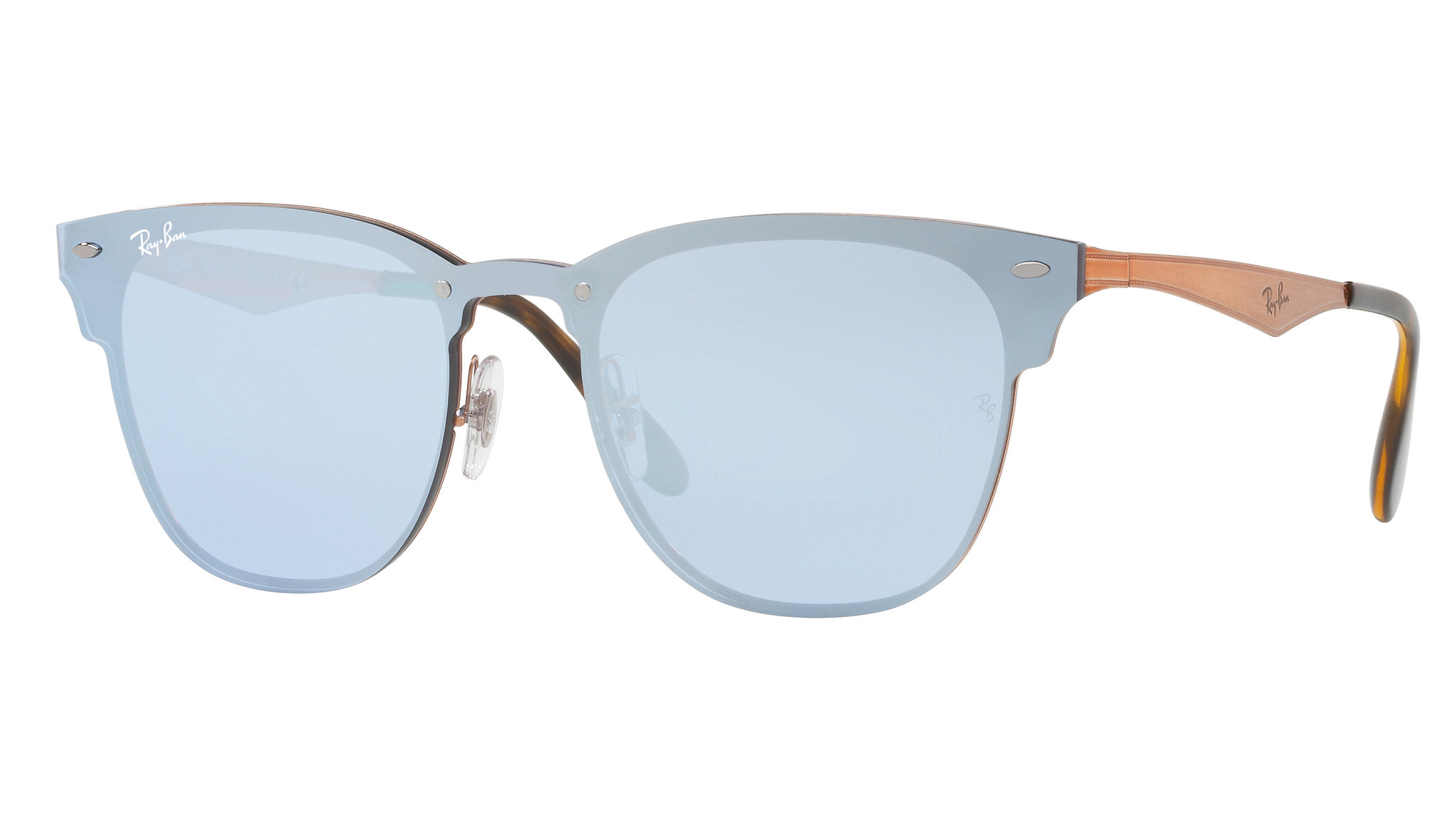 Ray-Ban Blaze Clubmaster in several colors including dark violet ($195, ray-ban.com)