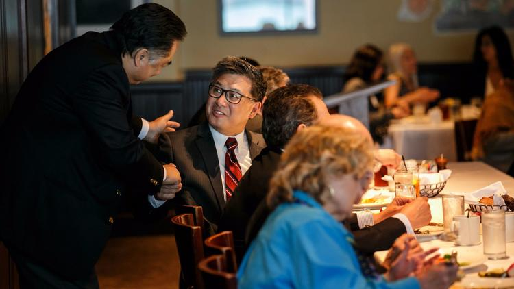 State Treasurer John Chiang, who is a 2018 gubernatorial candidate, attends the Los Angeles Current Affairs Forum in June. (Marcus Yam / Los Angeles Times)
