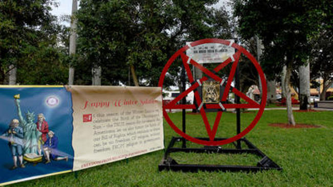 Satanist Controversy May Lead To Ban On All Displays At Boca Park