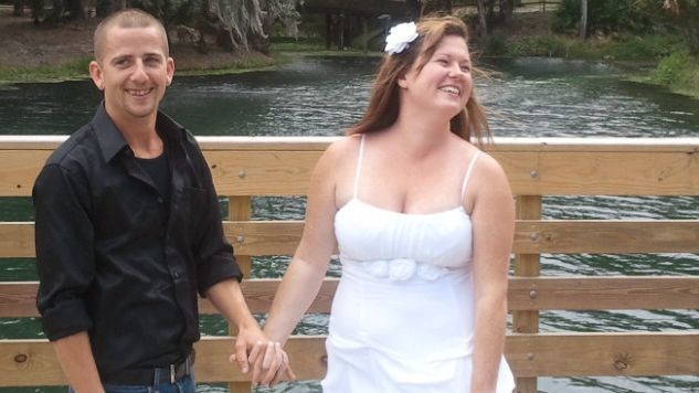 Daniel and Heather Kelsey were married at Gemini Springs in DeBary. (Courtesy of Belisle family)