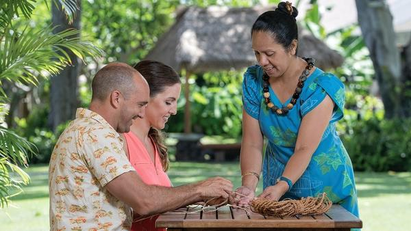 Learn more than hula dancing on your next trip to Maui. This hotel teaches lei-making, weaving and more
