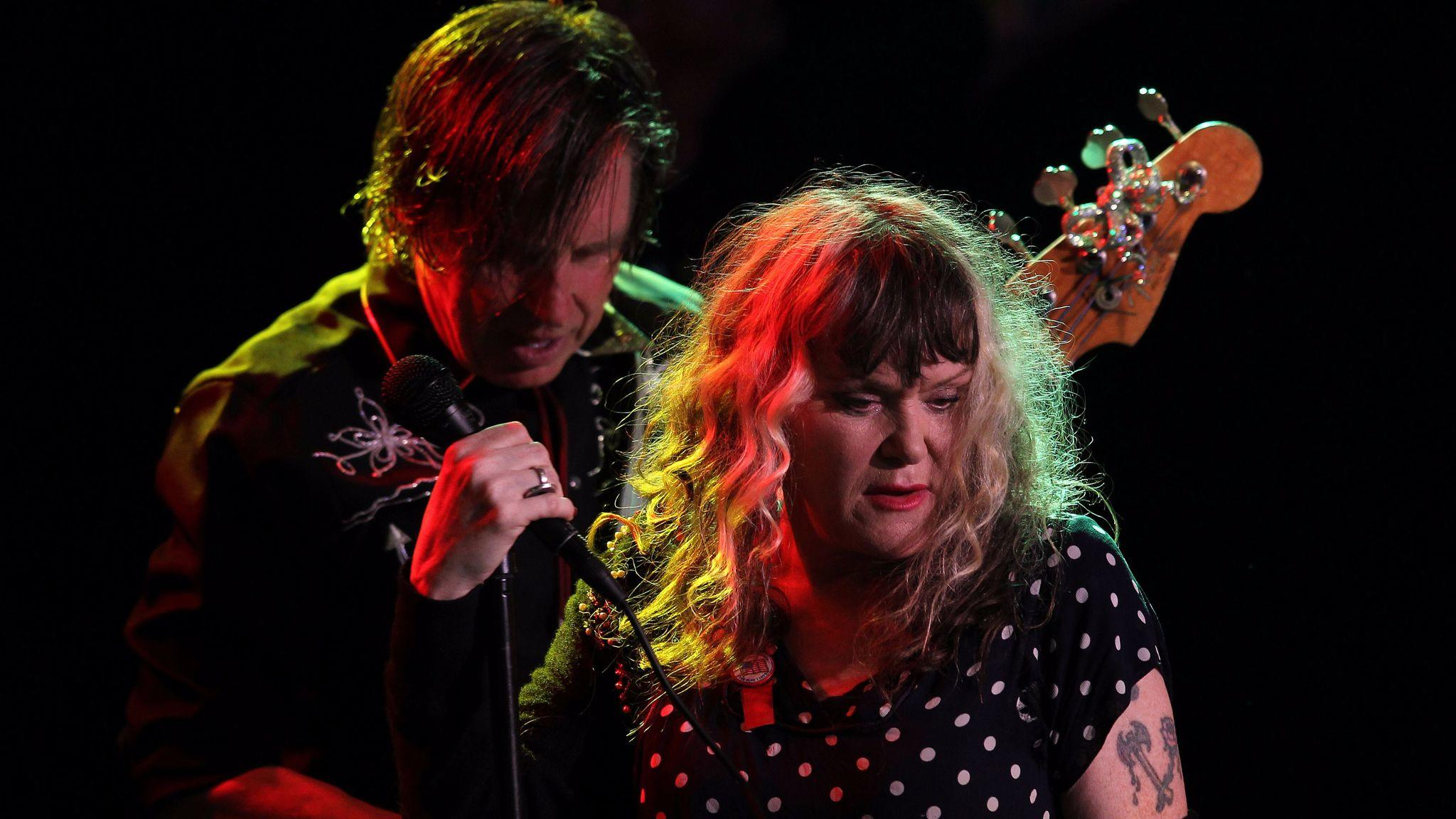 John Doe, left, and Exene Cervenka will bring X to L.A.'s Pershing Square for a free show Saturday. (Rick Loomis / Los Angeles Times)