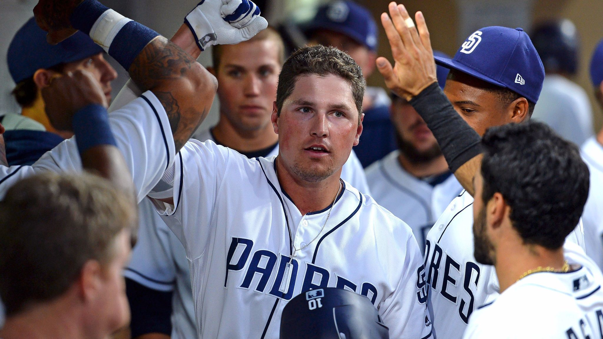 Sd-sp-padres-first-pitch-hunter-renfroe-homer-record-20170726