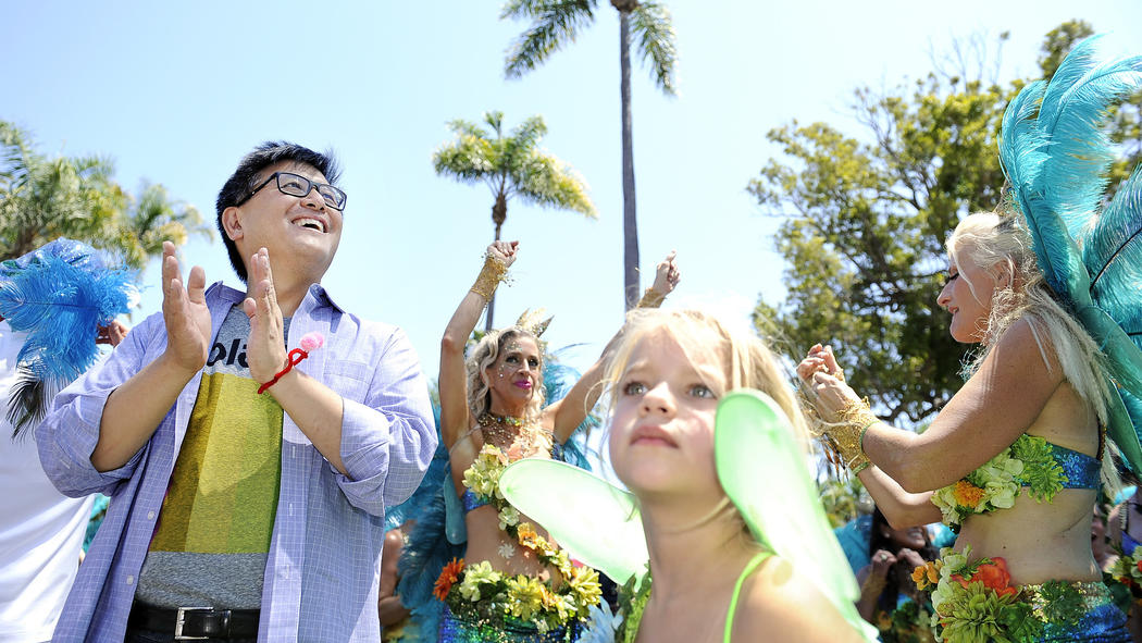 John Chiang at the Summer Solstice Festival in Santa Barbara. (Mariah Tauger / For The Times)