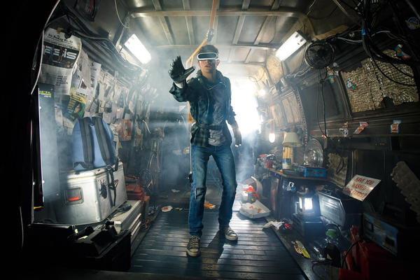 "Tye Sheridan as Wade Watts in ""Ready Player One,"" directed by Steven Spielberg. (Warner Bros.)"