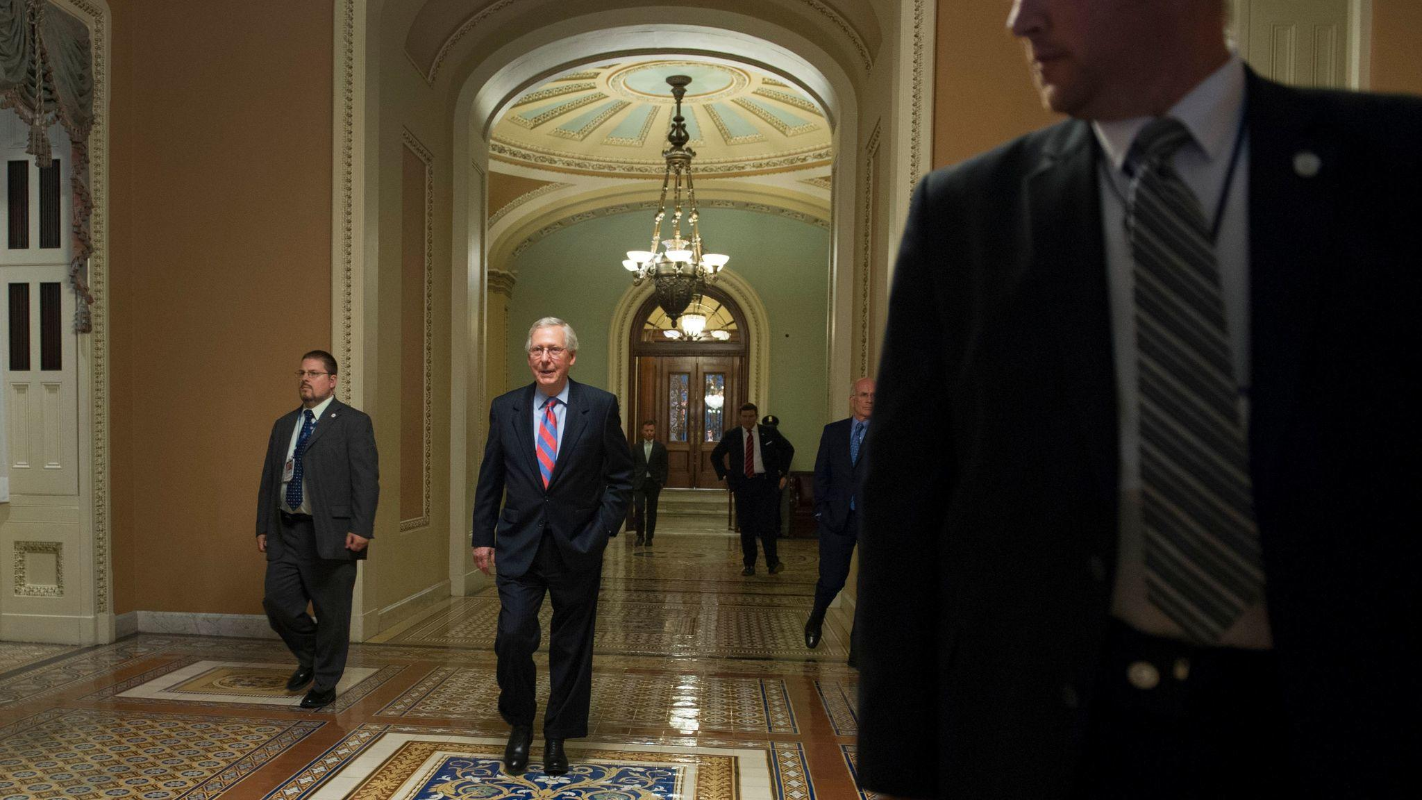 Senate Majority Leader Mitch McConnell in the Capitol. (Associated Press)