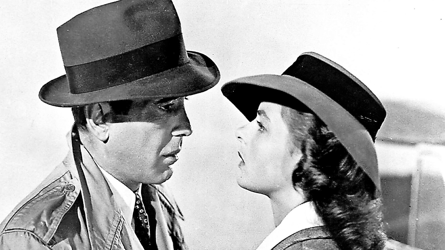 "Ingrid Bergman and Humphrey Bogart in a scene from ""Casablanca."" (Associated Press)"