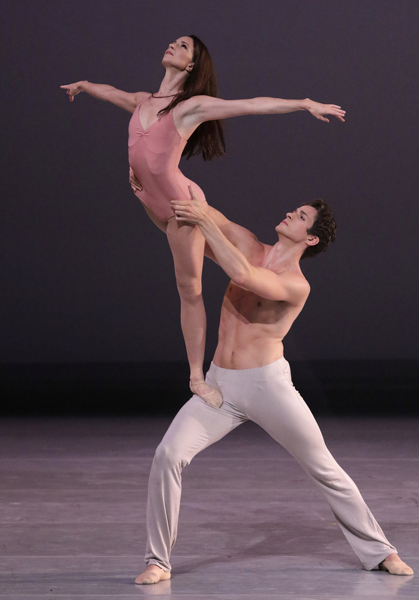 "Lauren Cuthbertson and Reece Clarke perform Christopher Wheeldon's ""After the Rain."""