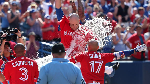 Angels blow six-run lead in ninth when Steve Pearce hits walk-off grand slam for Blue Jays