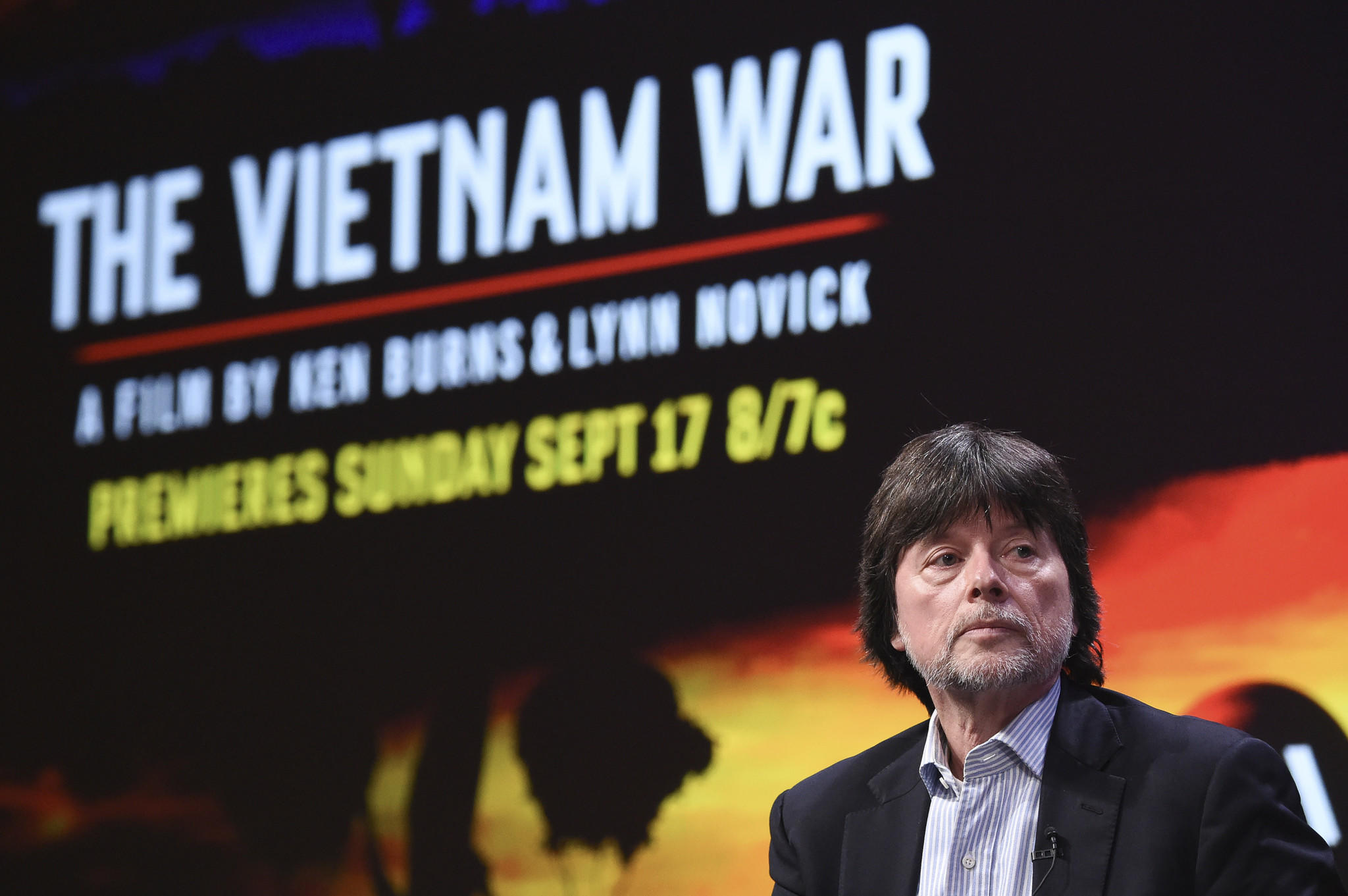 Ken Burns in Beverly Hilton on Sunday. (Richard Shotwell / Invision)