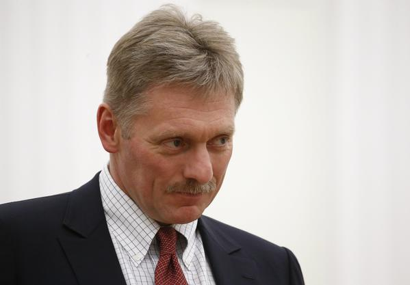 Kremlin spokesman Dmitry Peskov attends a meeting in Moscow on June 21. (Sergei Karpukhin / EPA)