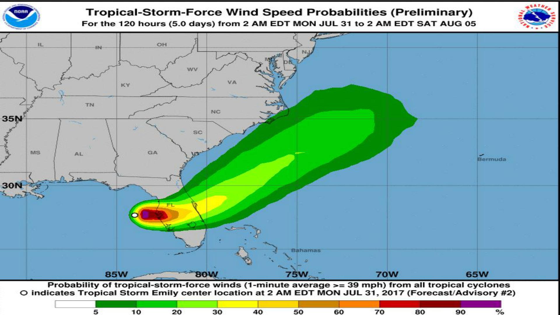 Declaran Estado de emergencia en Florida por paso de la tormenta ...