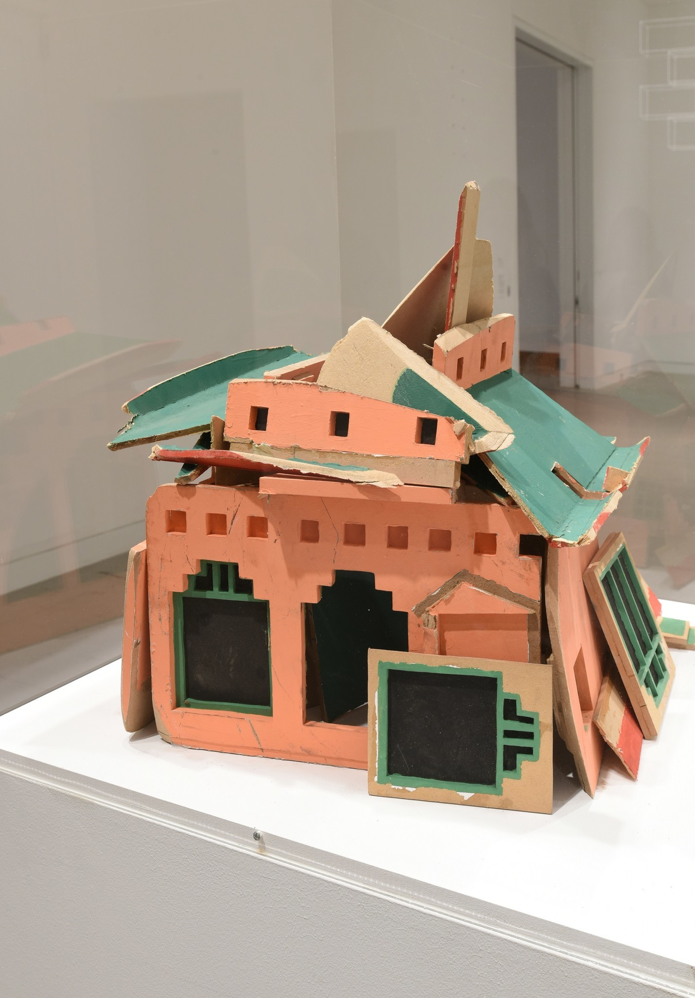 "Pilar Quinteros, ""China House Great Journey (detail),"" 2017, painted wood model"