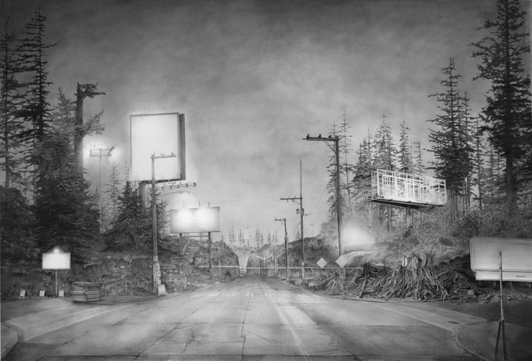 "Lead Pencil Studio, ""A Clearing,"" 2015, charcoal, graphite, ink"