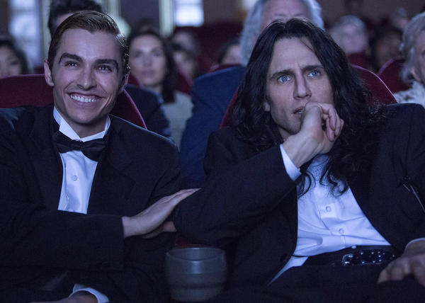 """Dave Franco, left, and James Franco in the film """"The Disaster Artist."""" (SXSW)"""