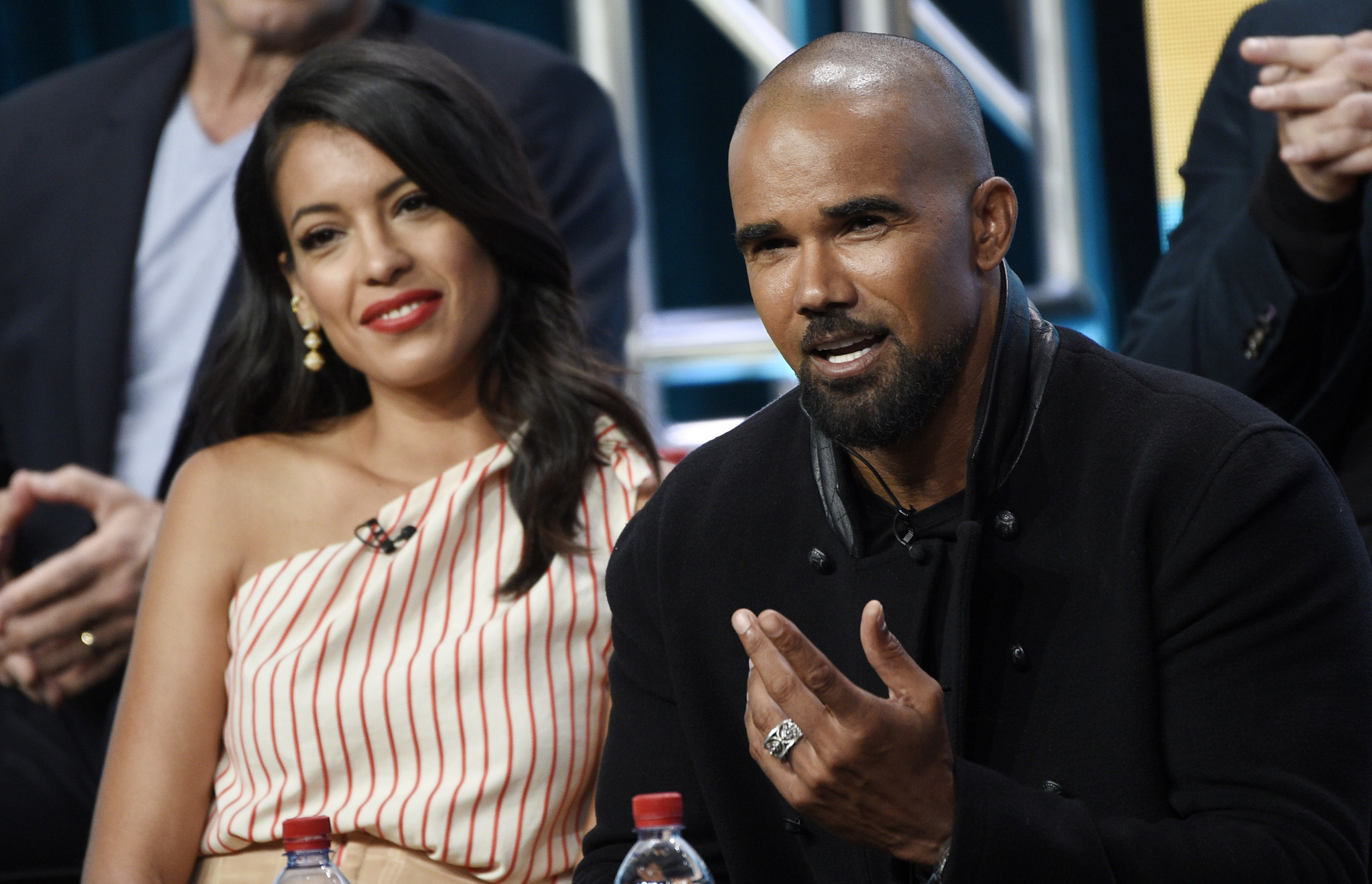 Stephanie Sigman and Shemar Moore (Chris Pizzello/Invision/AP)