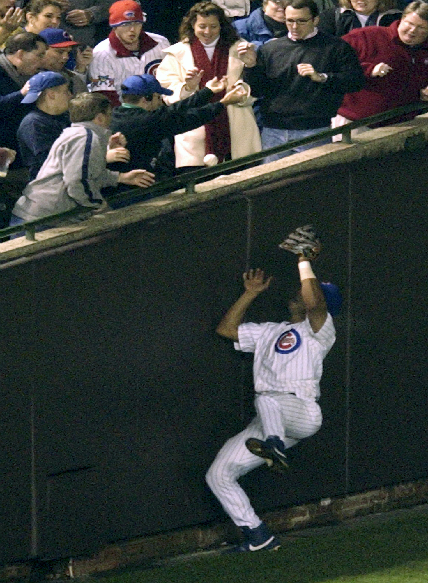 with steve bartman gesture  cubs take focus off night-game flap
