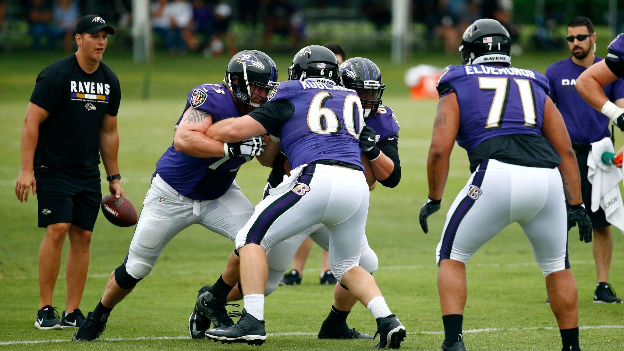 Ravens right guard Marshal Yanda has no problem easing his way