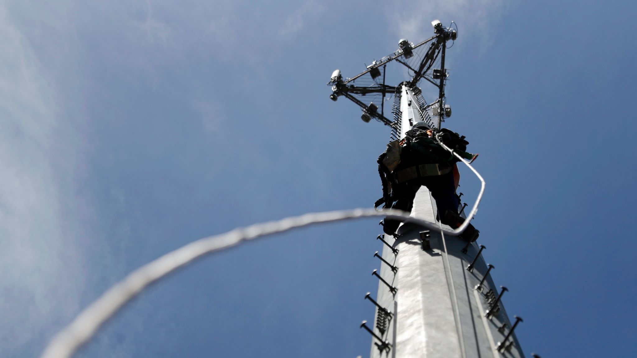 """A traditional cellphone tower. Cell tower interceptors, often called """"stingrays"""" or """"dirtboxes,"""" tend to be the size of small briefcases and mimic traditional cell towers."""