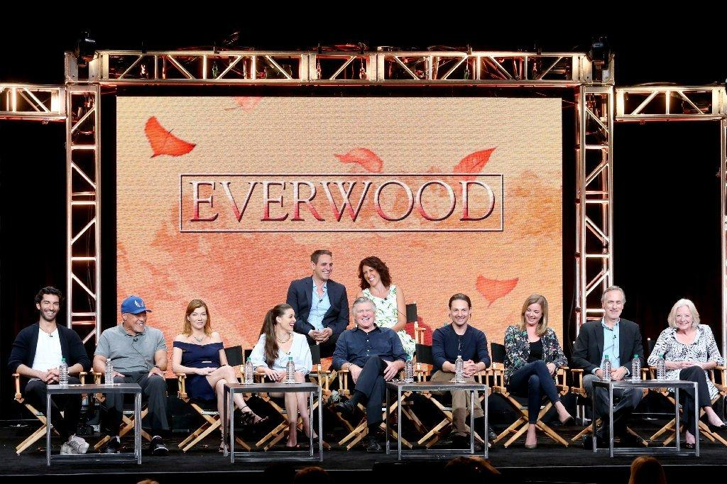 "The cast of ""Everwood"" reunites at TCA on Aug. 2. (Frederick M. Brown / Getty Images)"