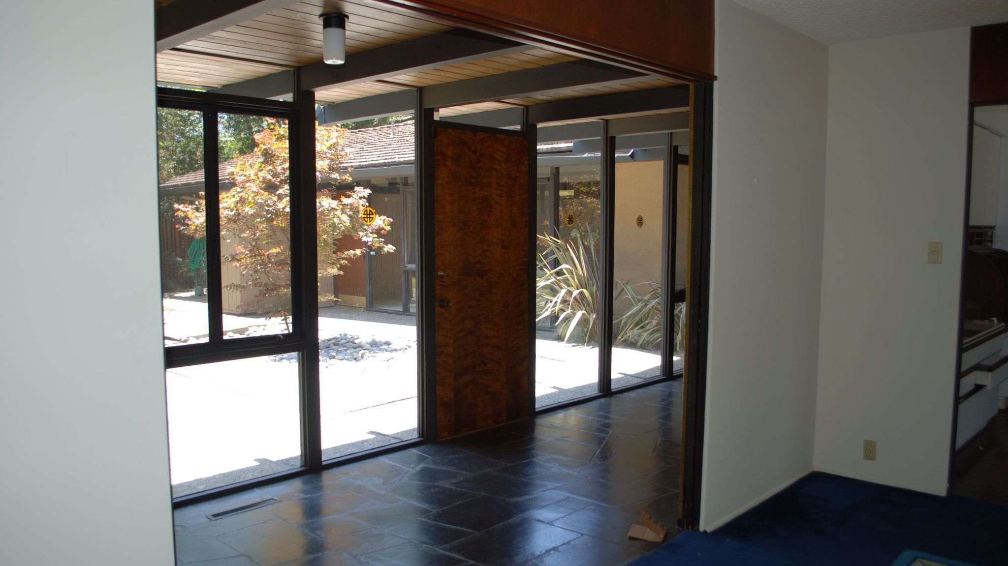 The corridor before.