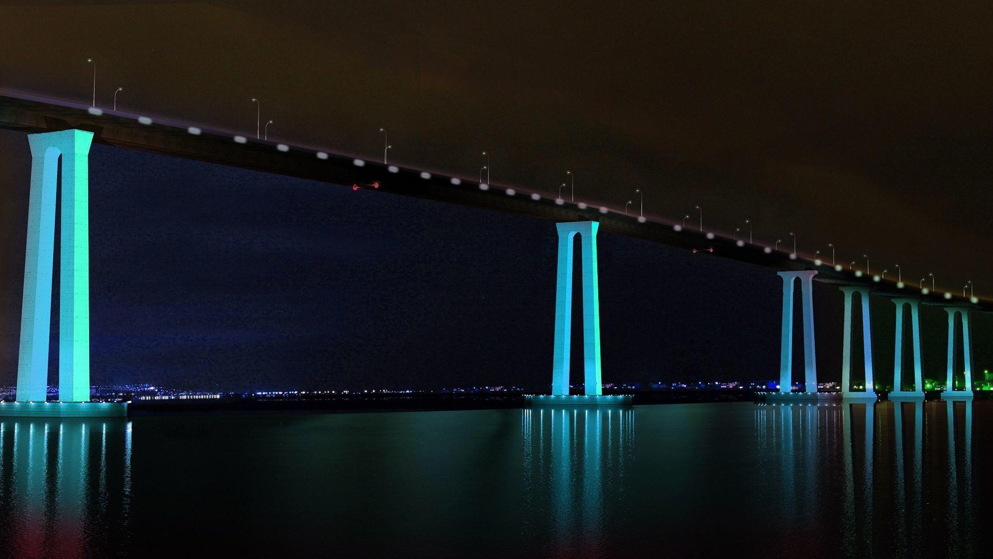 coronado bridge lighting moving to design phase the san diego