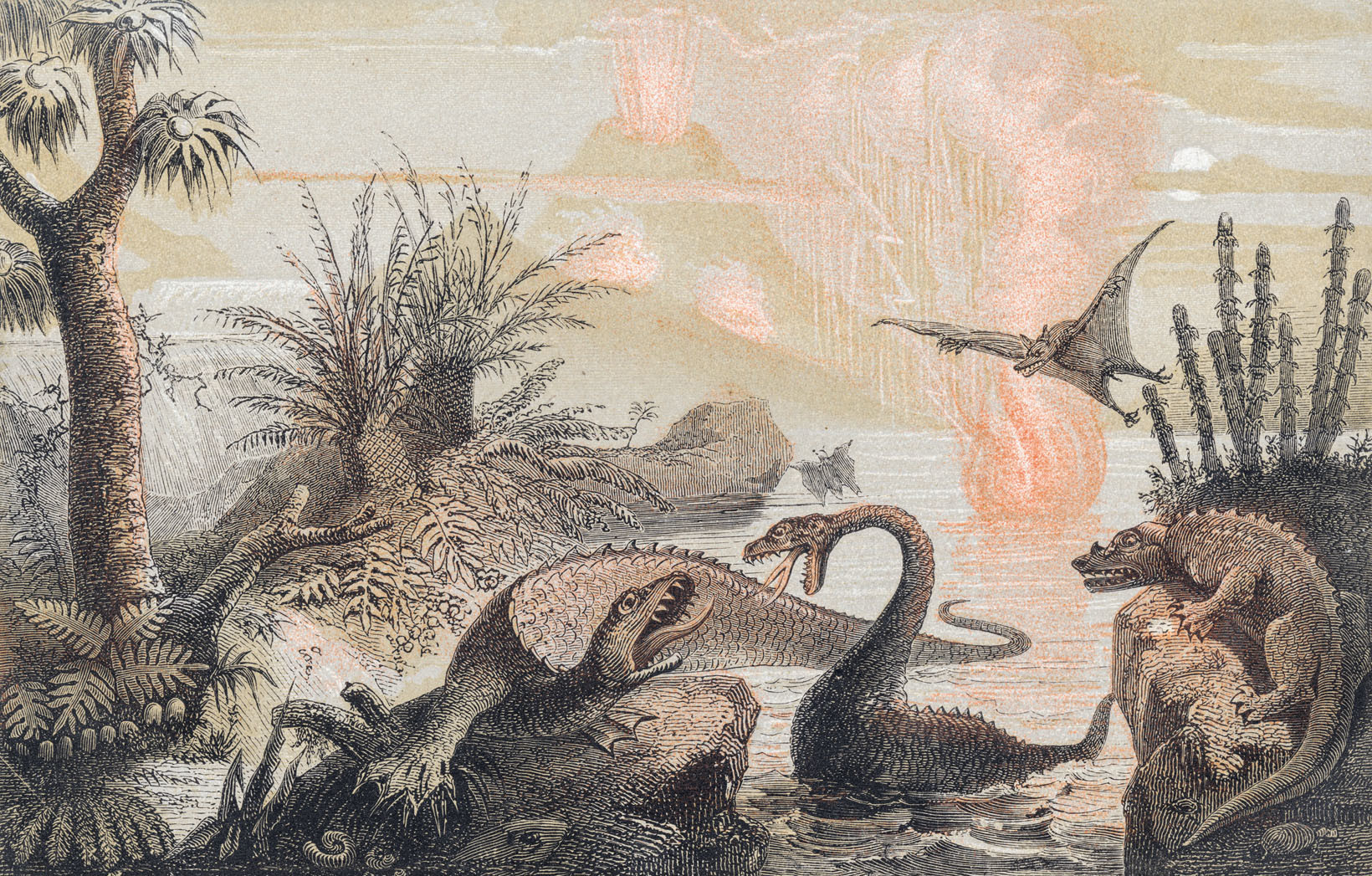 """The Primitive World,"" Adolphe François Pannemaker, 1857."
