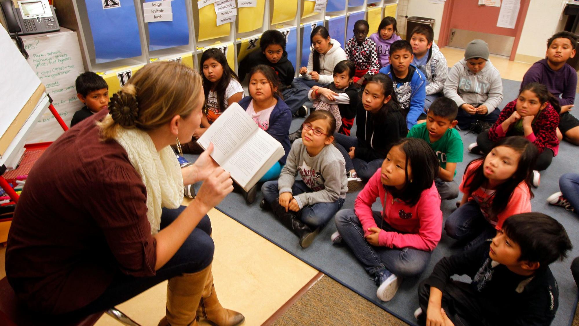 Tina Rasori's fourth- and fifth-grade combination class at Fay Elementary School in San Diego, shown