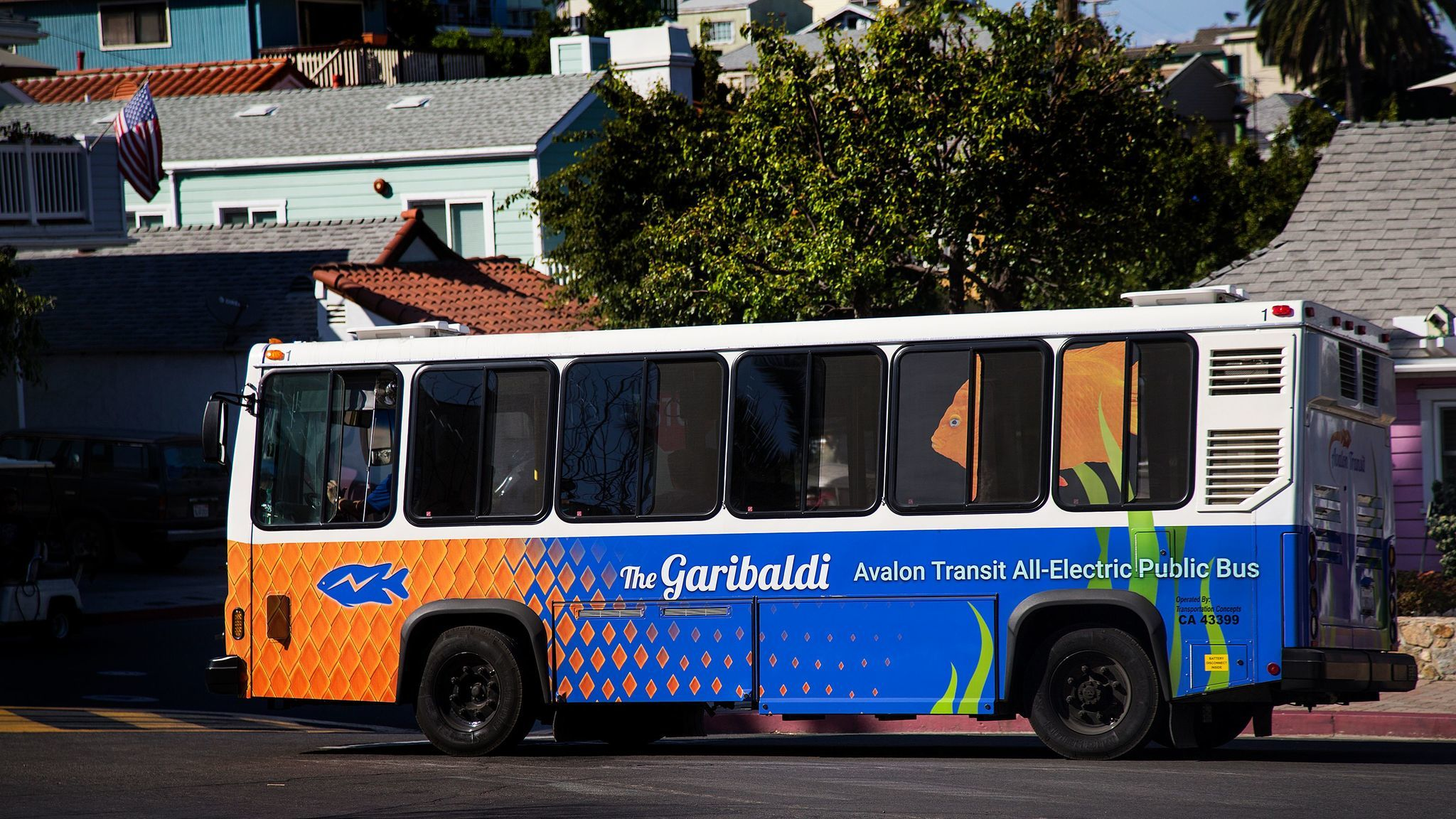 Visitors to Catalina can ride the Avalon Transit electric bus.