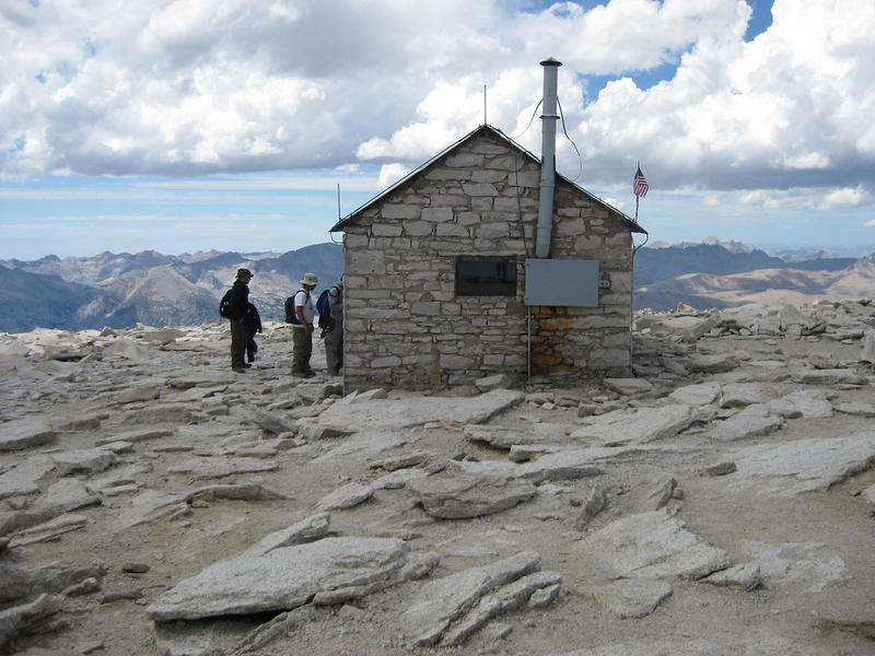 Summit hut. (Mary Forgione / Los Angeles Times)