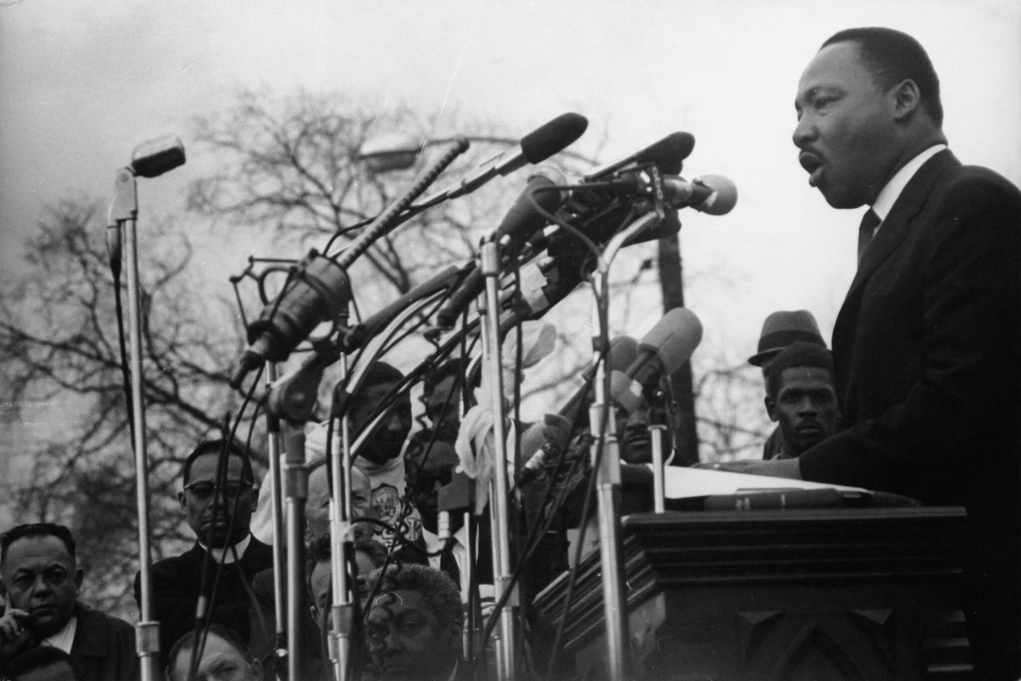 Hopper went to the 1965 Freedom March from Selma, Ala., to Montgomery and photographed Martin Luther King Jr.