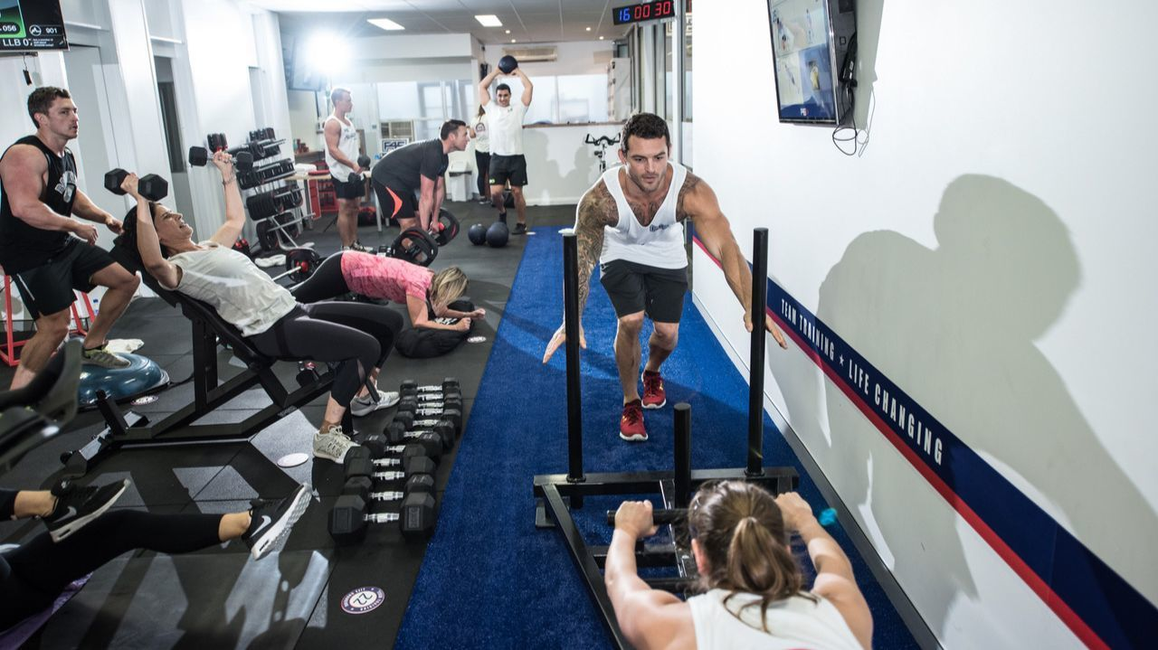 Workouts at the new F45 Training studios are designed to work multiple groups simultaneously.