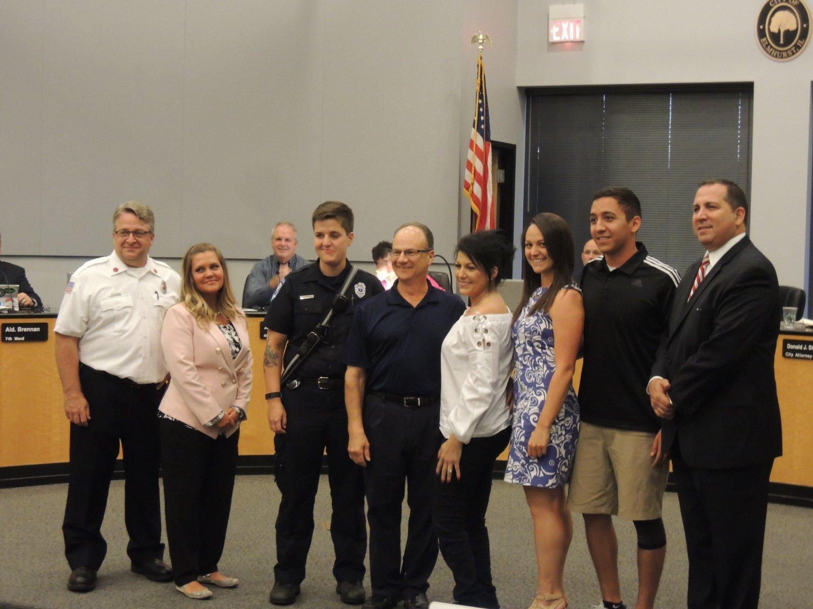YMCA hockey player thanks Elmhurst first responders for saving his life