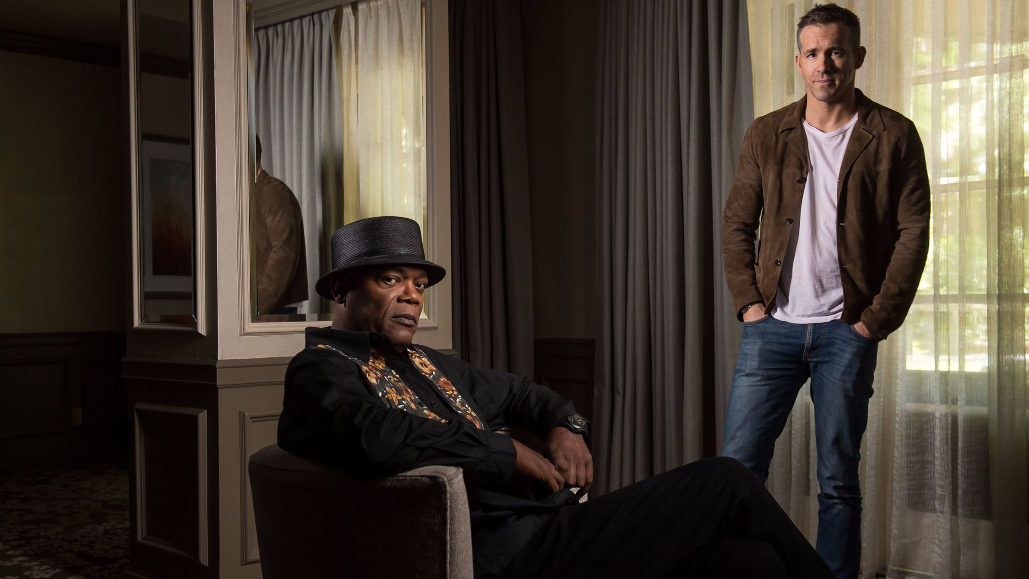 Samuel L. Jackson and Ryan Reynolds