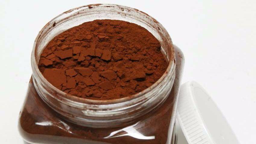 Natural cocoa powder.
