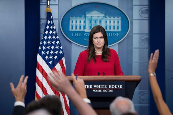 Sarah Huckabee Sanders, a professional for the press