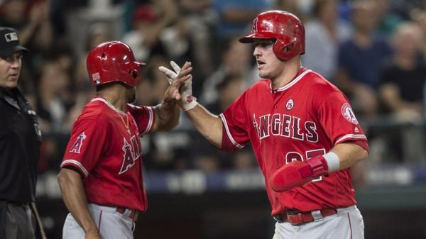 Angels rally for 6-3 victory over the Mariners and to get back into a wild-card playoff spot