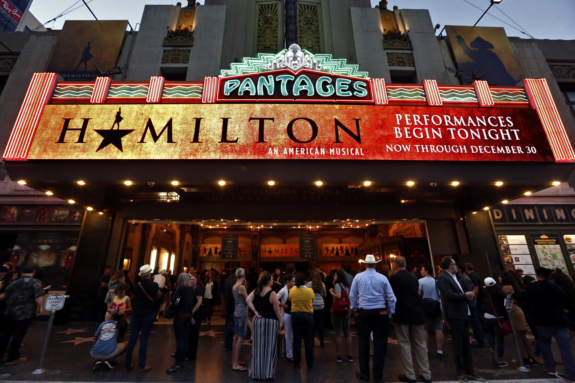 """Hamilton"" preview performance at the Pantages Theatre in Hollywood Daily Press """