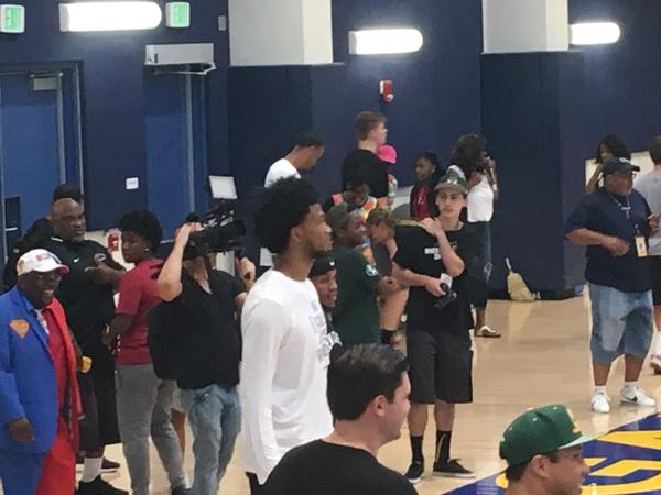 Marvin Bagley III is already used to cameras and attention after playing in Drew League this summer (Eric Sondheimer)