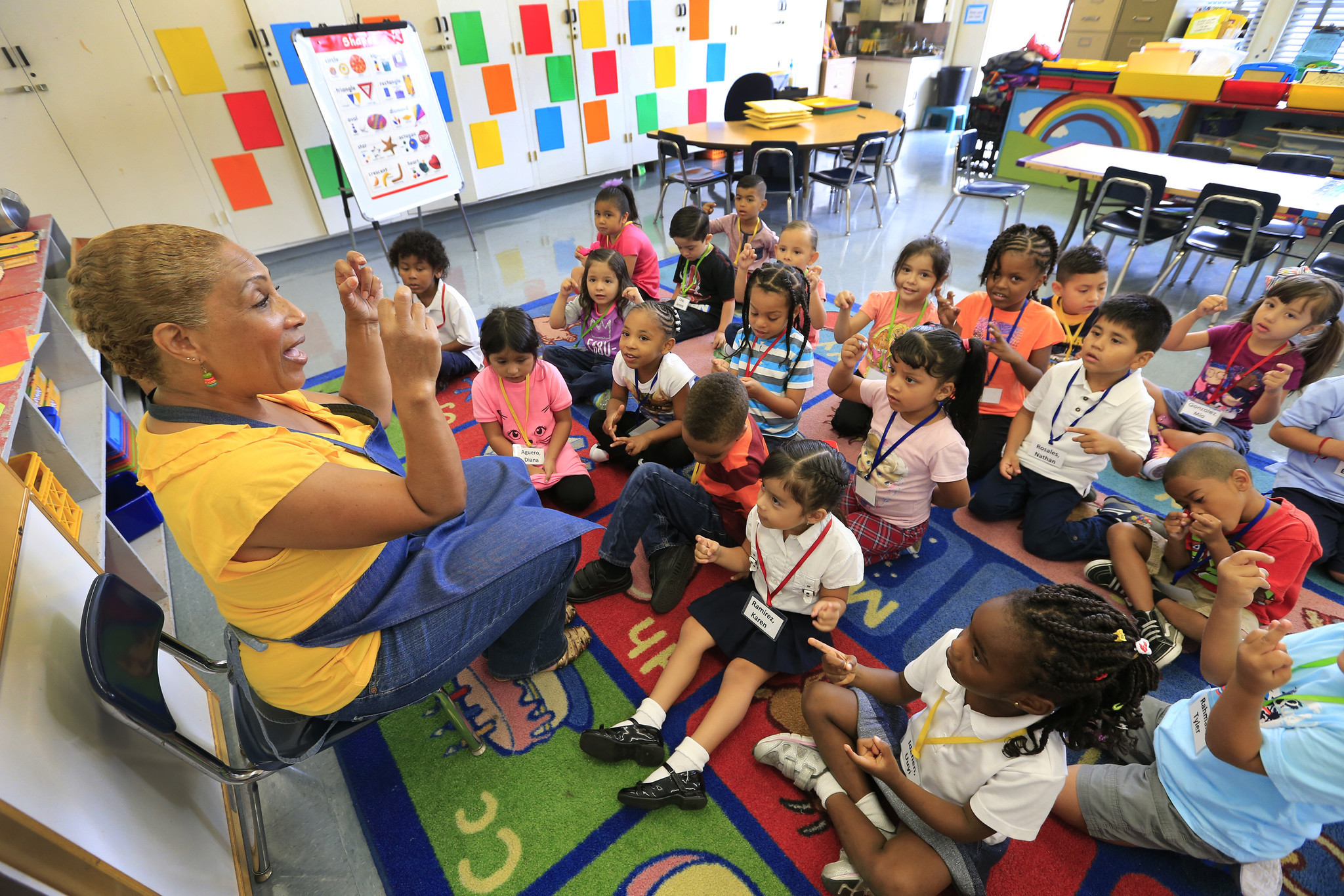Lisa Harmison taught one of the first expanded transitional kindergarten classes at 186th Street Elementary in 2015.