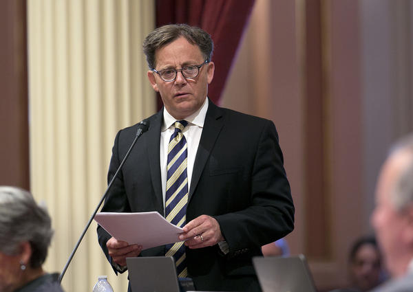 State Sen. Josh Newman (D-Fullerton). (Rich Pedroncelli / Associated Press)