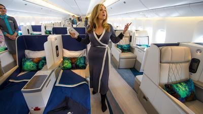 Plenty of legroom on Boeing's luxury jet tailored for the world's richest