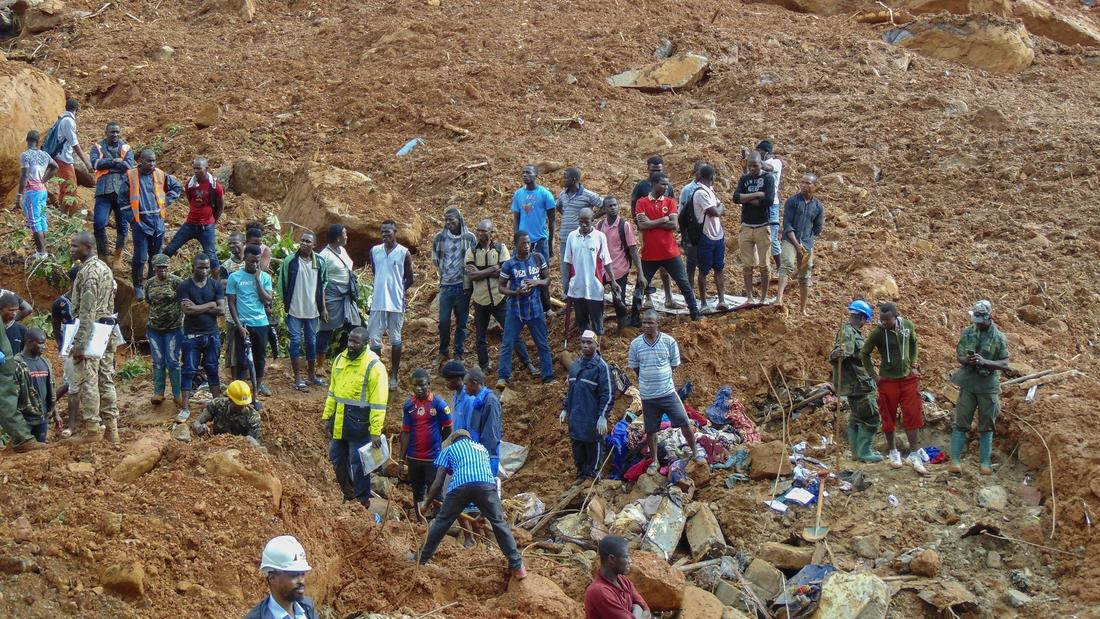 Over 400 dead, 600 missing in deadly Sierra Leone mudslides