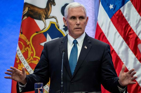 Pence draws attention to plight of Venezuelans